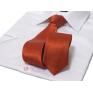 Krawat-ŚLEDŹ KORALOWY / CZERWONY GŁADKI LEKKO BŁYSZCZĄCY
