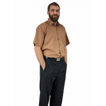 Elegancka koszula męska z krótkim rękawem MUSZTARDOWA