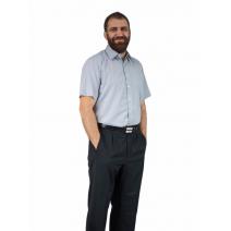 Koszula męska szara/popielata bawełniana z krótkim rękawem