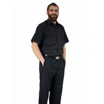 Koszula męska czarna bawełniana z krótkim rękawem