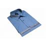 Koszula męska popielata-stalowa z krótkim rękawem 100% BAWEŁNA