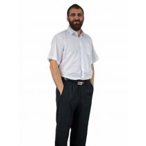 BIAŁA koszula męska z krótkim rękawem duże rozmiary