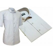 Koszula męska SLIM popielata lekko taliowana