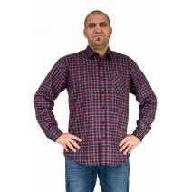 Flanelowa koszula męska w czarno-czerwoną kratę
