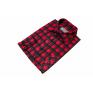 Flanelowa koszula męska w czerwono-czarną kratę