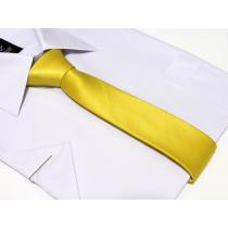 Krawat-ŚLEDŹ ZÓŁTY perłowy gładki