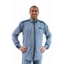 Koszula męska regular chabrowo-biała krata