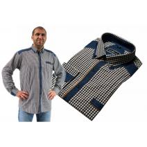Koszula męska regular brązowo-biała krata