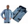 Koszula męska regular niebiesko-biała krata