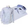 BŁĘKITNA koszula męska Slim Fit na spinki lub guzik
