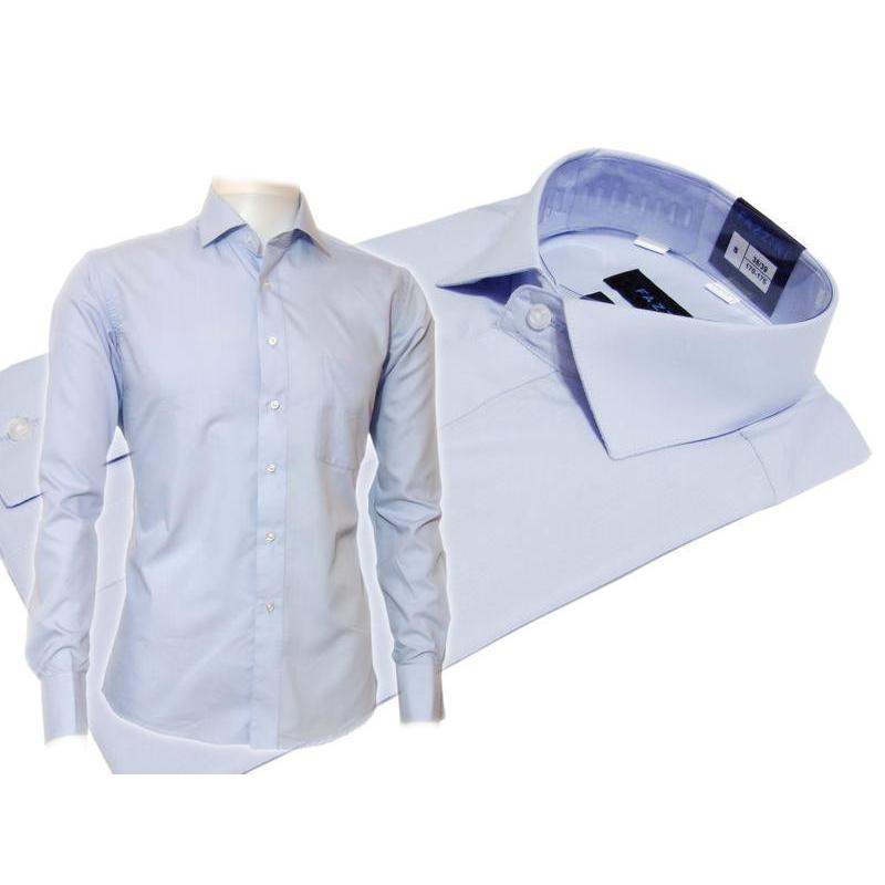 f69ff8f0 Błękitna koszula męska slim fit na spinki...