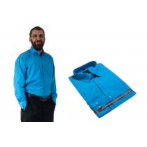 Koszula męska wizytowa do garnituru turkusowa Laviino dl78