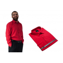 Wizytowa koszula męska do garnituru czerwona długi rękaw Lanvino.