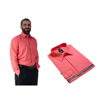 Wizytowa koszula męska malinowa Laviino dl96 bawełniana
