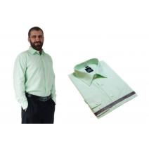 Wizytowa koszula męska miętowa z długim rękawem LANVINO