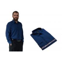 Wizytowa koszula męska GRANATOWA 100% bawełna