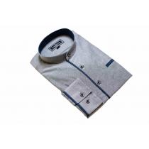 Elegancka koszula męska popielata ze stójką