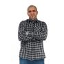 Flanelowa koszula męska w czarno-białą kratę