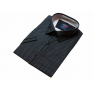 Koszula męska slim fit czarna w drobny wzorek