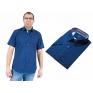 Koszula męska slim fit granatowa w drobny wzorek