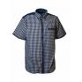 Koszula męska regular w kratkę kołnierzyk button down krótki rękaw