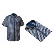Koszula męska w kratkę kołnierzyk button down