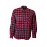 Flanelowa koszula męska w czerwono-granatową kratę