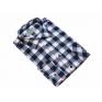 Flanelowa koszula męska w biało-granatową kratę