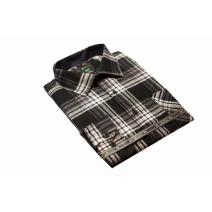Koszula męska w czarno-białą kratę