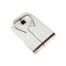 DUŻA koszula męska biała z wykończeniami