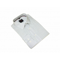 Elegancka koszula męska biała w drobny wzorek
