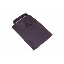 Elegancka koszula męska granat bordowy wzór