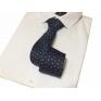 Elegancki krawat granatowy we wzorek