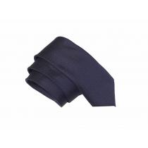 Elegancki krawat granatowy w czerwone kropki