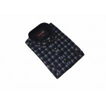 DUŻA koszula sztruksowa granatowo-popielata duży rozmiar