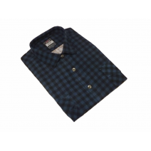 Koszula męska sztruksowa granatowo-czarna