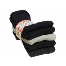 Grube skarpety frotte bawełniane polskie 5 par czarne białe mix kolorów