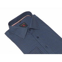 Elegancka koszula męska granatowa we wzorek