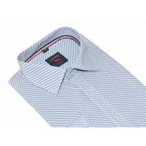 Elegancka koszula męska błękit drobny wzór