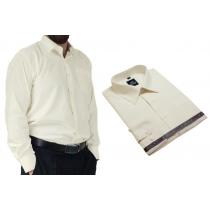 Koszula męska elegancka kremowa ecru Laviino dl3