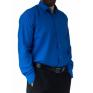 Wizytowa koszula męska niebieska chabrowa szafirowa Laviino dl66