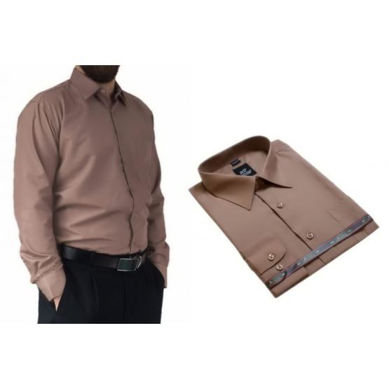 c86d7362 Koszula męska elegancka karmelowa Laviino dl99