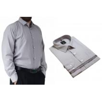 Koszula męska elegancka popielata gładka Laviino dl74