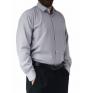 Elegancka koszula męska popielata gładka Laviino bawełna