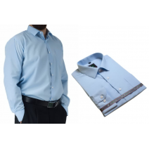 Koszula męska wizytowa do garnituru błękitna elegancka Laviino dl77