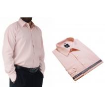 Wizytowa koszula męska morelowa jasna Laviino dl126
