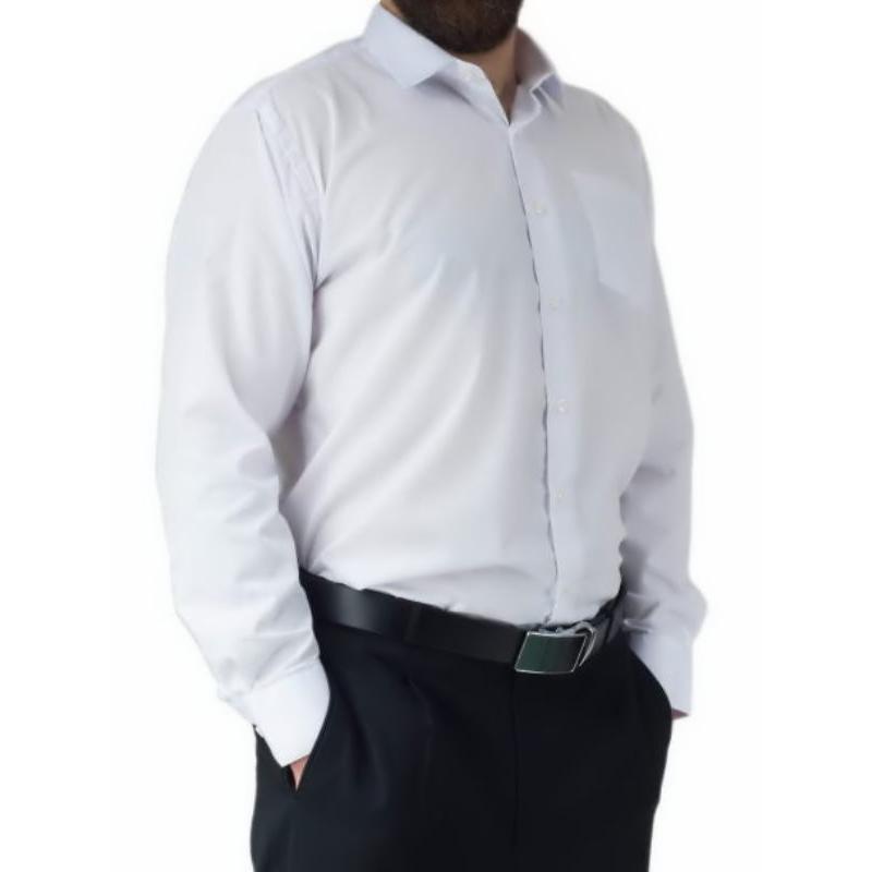 6b16d82591 ... Biała koszula męska elegancka Laviino długi rekaw ...