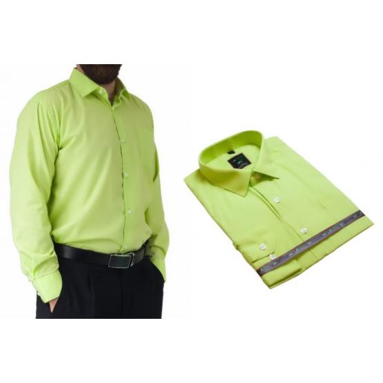 Koszula męska wizytowa pistacjowa elegancka Laviino dl92