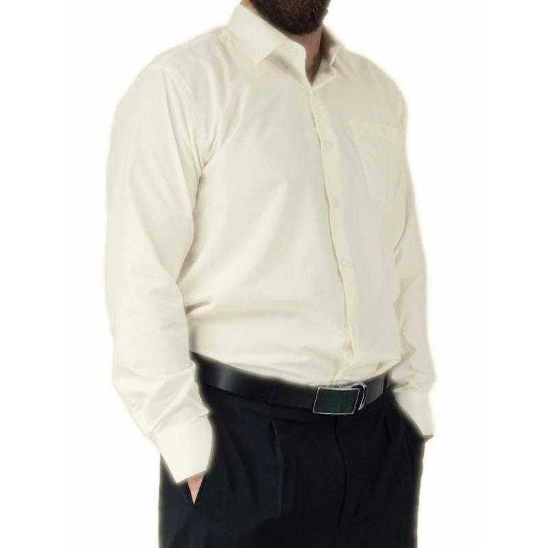 Koszula męska elegancka kremowa ecru wizytowa Laviino dl3  pvRIF