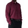 Duża koszula męska bordowa gładka elegancka Laviino